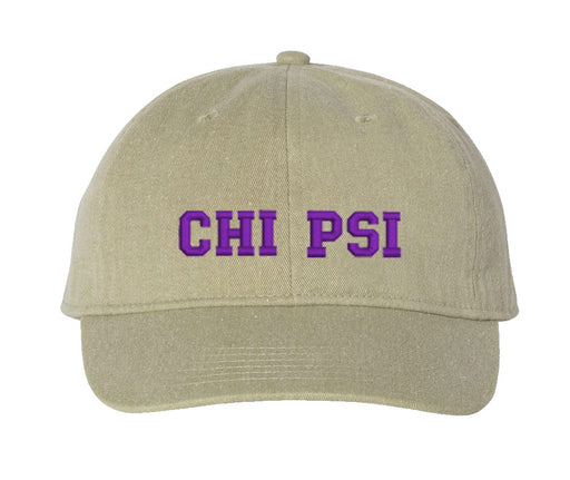 Chi Psi Comfort Colors Varsity Hat