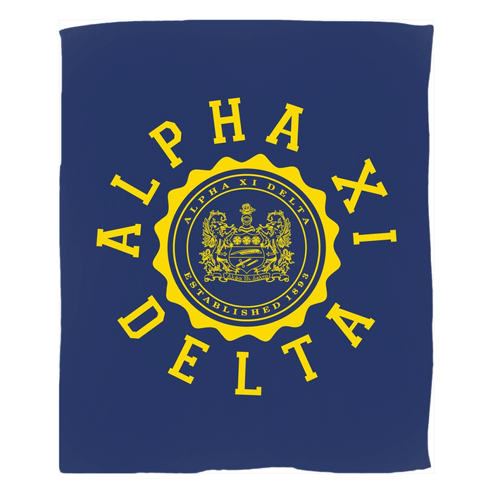 Alpha Xi Delta Seal Fleece Blankets Alpha Xi  Delta Seal Fleece Blankets