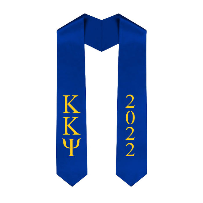 Kappa Kappa Psi Vertical Grad Stole with Letters & Year