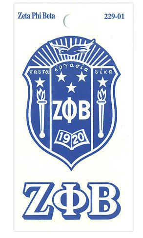 Zeta Phi Beta Crest Decal