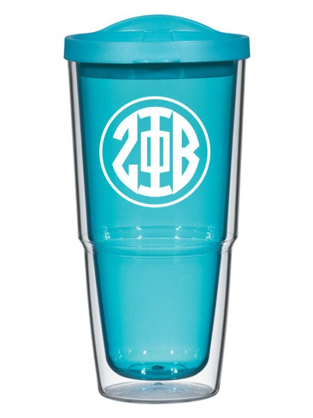 Zeta Phi Beta Circle Arrows 24 oz Tumbler with Lid