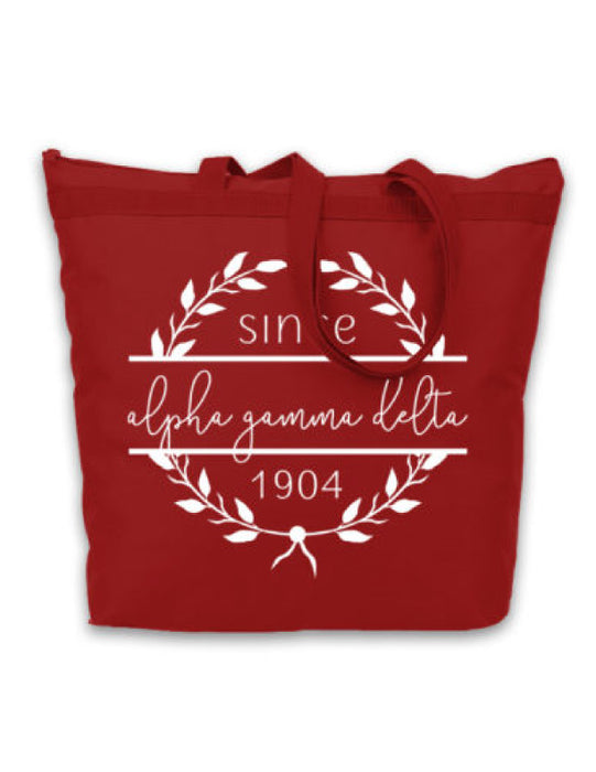 Alpha Gamma Delta Since Established Tote