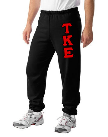 Tau Kappa Epsilon Sweatpants with Sewn-On Letters