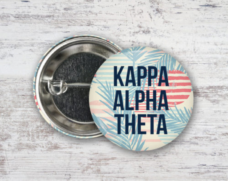 Kappa Alpha Theta Paradise Found Button