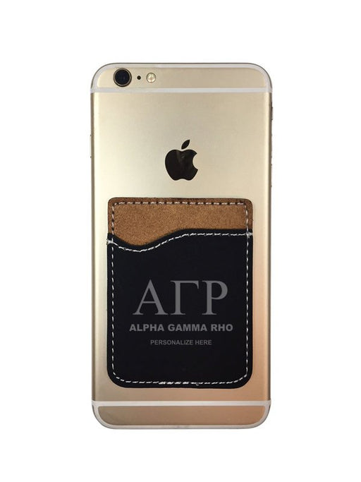 Alpha Gamma Rho Engraved Phone Wallet