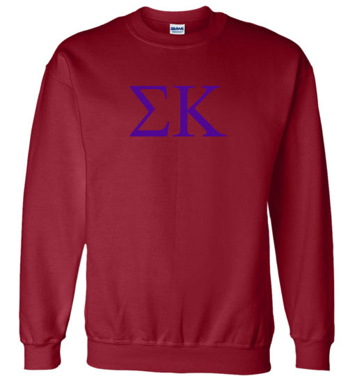 Sigma Kappa World Famous Lettered Crewneck Sweatshirt