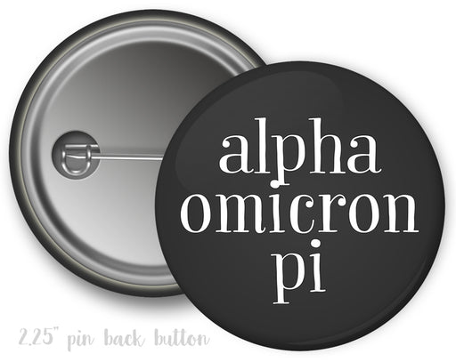 Alpha Omicron Pi Simple Text Button