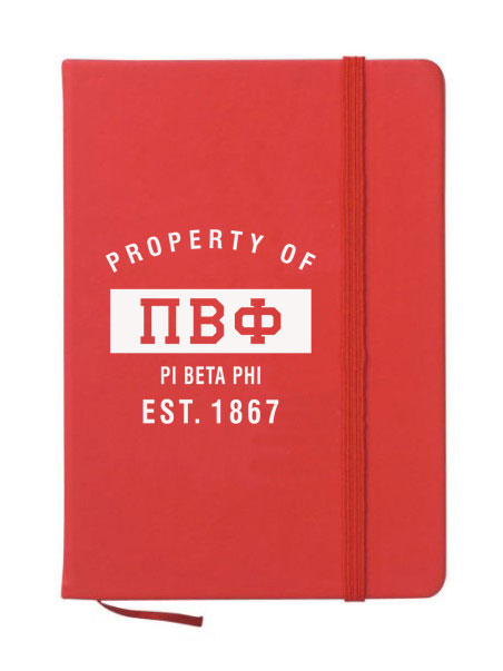 Pi Beta Phi Property of Notebook