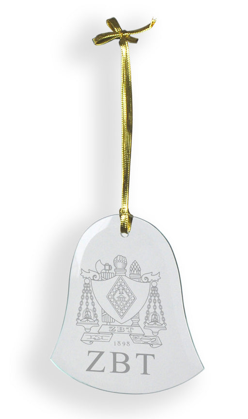 Zeta Beta Tau Glass Bell Ornament