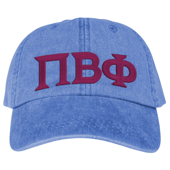 Pi Beta Phi Greek Letter Embroidered Hat
