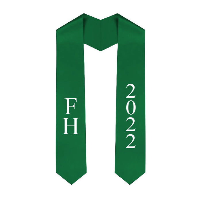 Farmhouse Vertical Grad Stole with Letters & Year