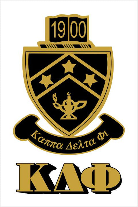 Kappa Delta Phi Crest Window Decals Stickers Crest Decal