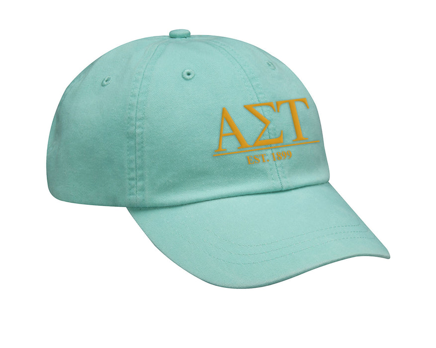 Alpha Sigma Tau Letters Year Embroidered Hat