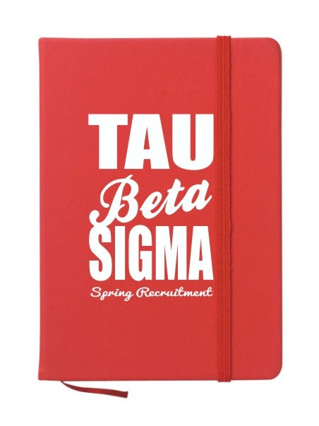 Tau Beta Sigma Cursive Impact Notebook