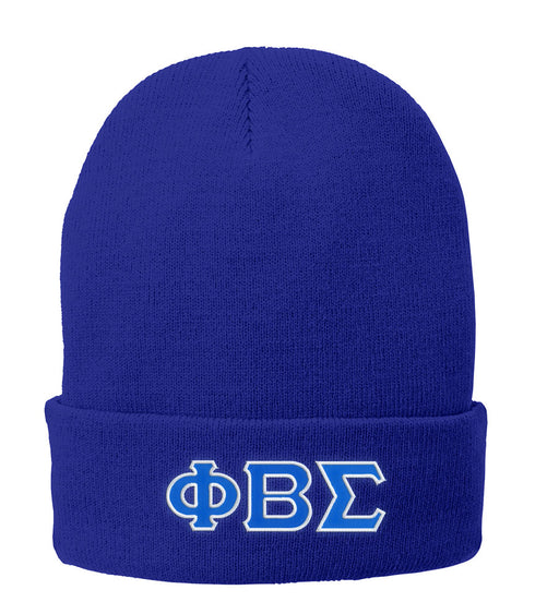 Phi Beta Sigma Lettered Knit Cap