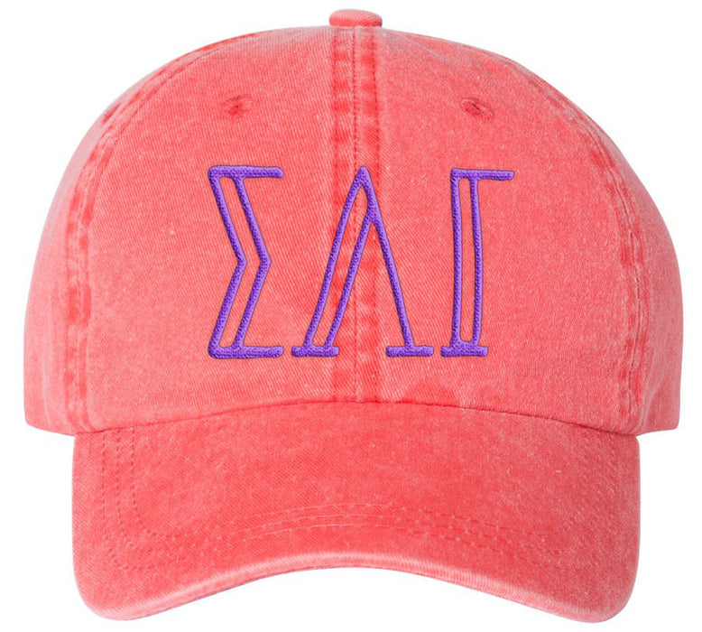 Sorority Big Letter Hats Sorority Greek Carson Embroidered Hat