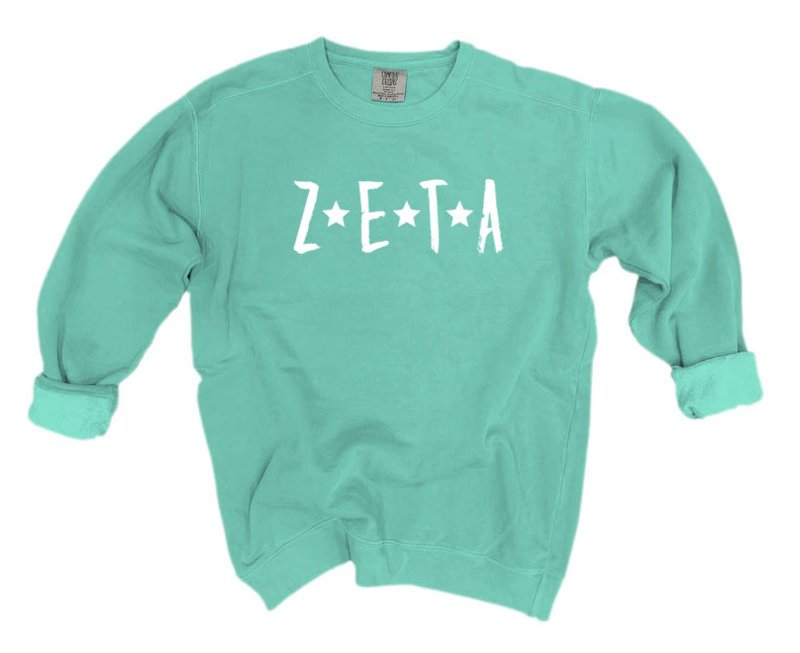 Zeta Tau Alpha Comfort Colors Starry Nickname Sorority Sweatshirt