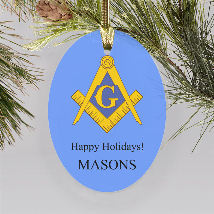 Masons Color Crest Ornament