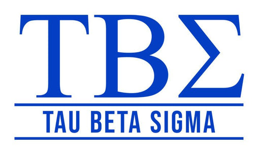 Tau Beta Sigma Custom Greek Letter Sticker - 2.5
