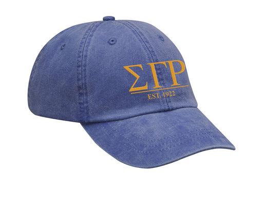 Sigma Gamma Rho Letters Year Embroidered Hat