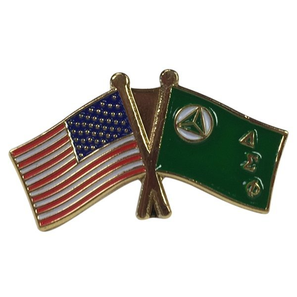 Delta Sigma Phi USA / Fraternity Flag Pin