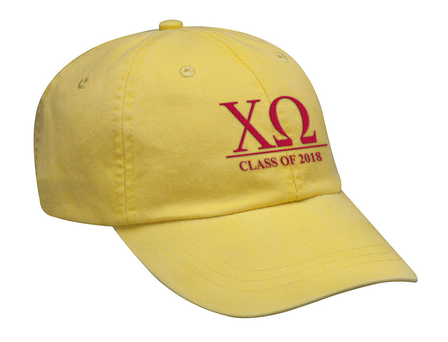 Chi Omega Embroidered Hat with Custom Text