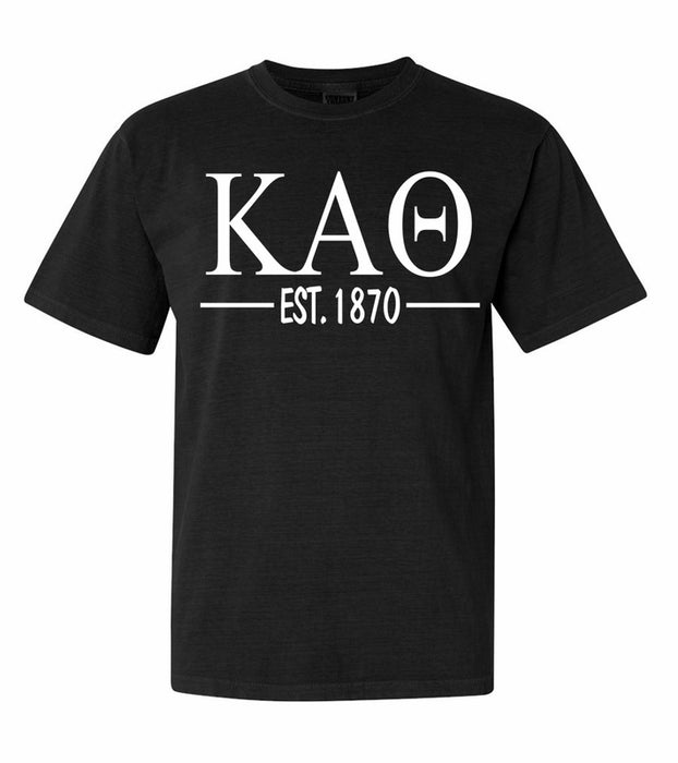 Kappa Alpha Theta Comfort Colors Established Sorority T-Shirt