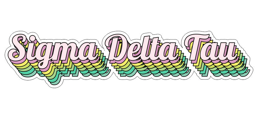 Sigma Delta Tau New Hip Stepped Sticker