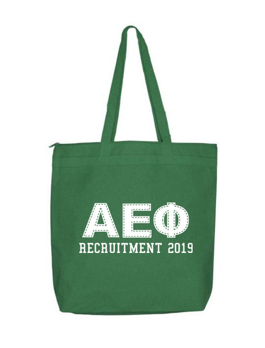 Alpha Epsilon Phi Collegiate Letters Event Tote Bag