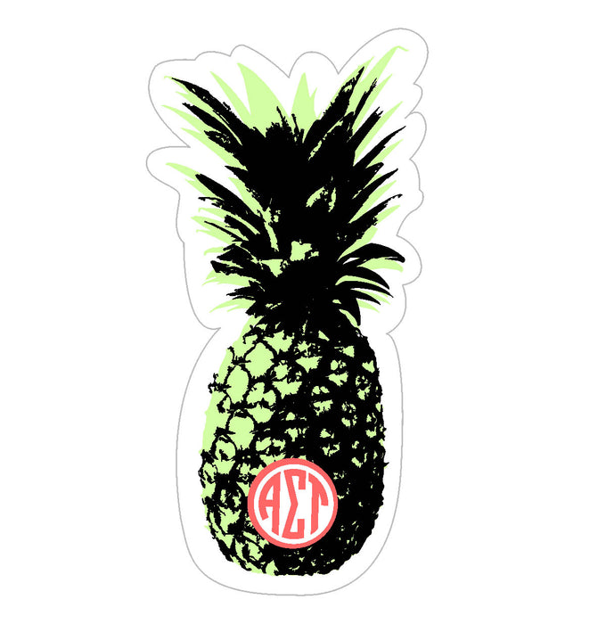 Alpha Sigma Tau Pineapple Sticker