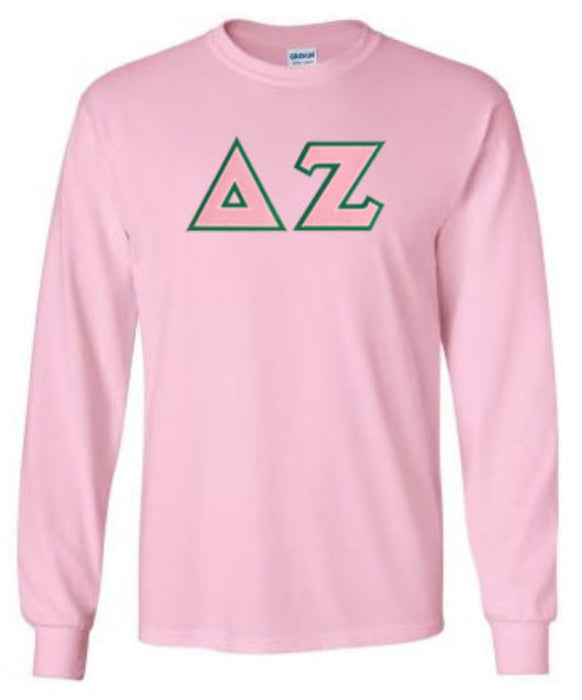 Delta Zeta Long Sleeve Greek Lettered Tee