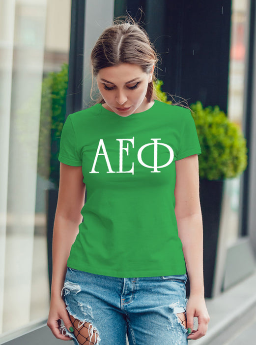 Alpha Epsilon Phi University Letter T-Shirt