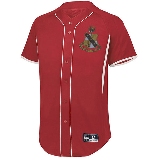 Alpha Sigma Phi 7 Full Button Baseball Jersey