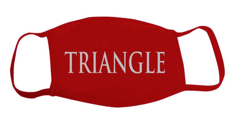 Triangle Face Mask With Big Greek Letters