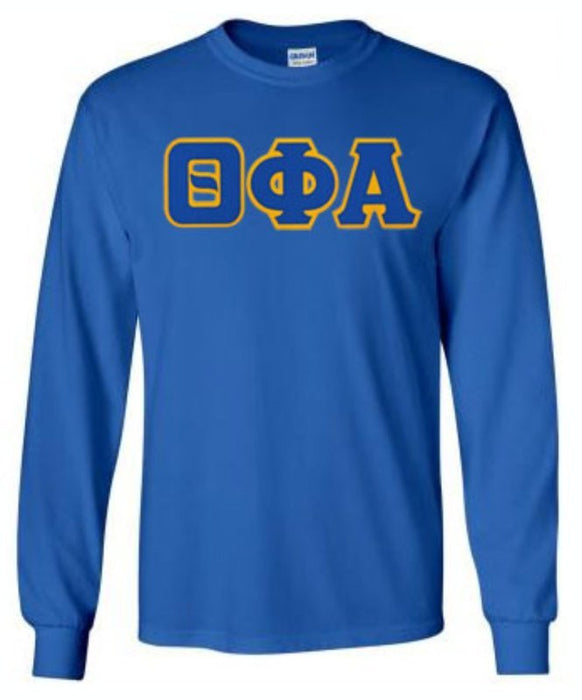 Theta Phi Alpha Long Sleeve Greek Lettered Tee