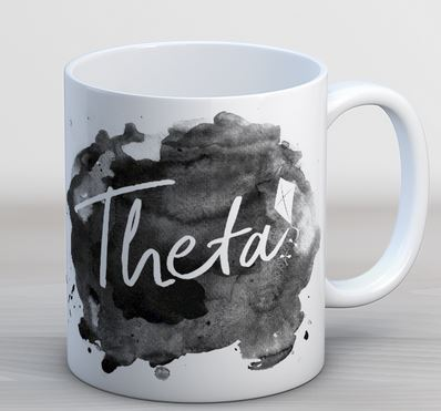 Kappa Alpha Theta Watercolor Script Coffee Mug