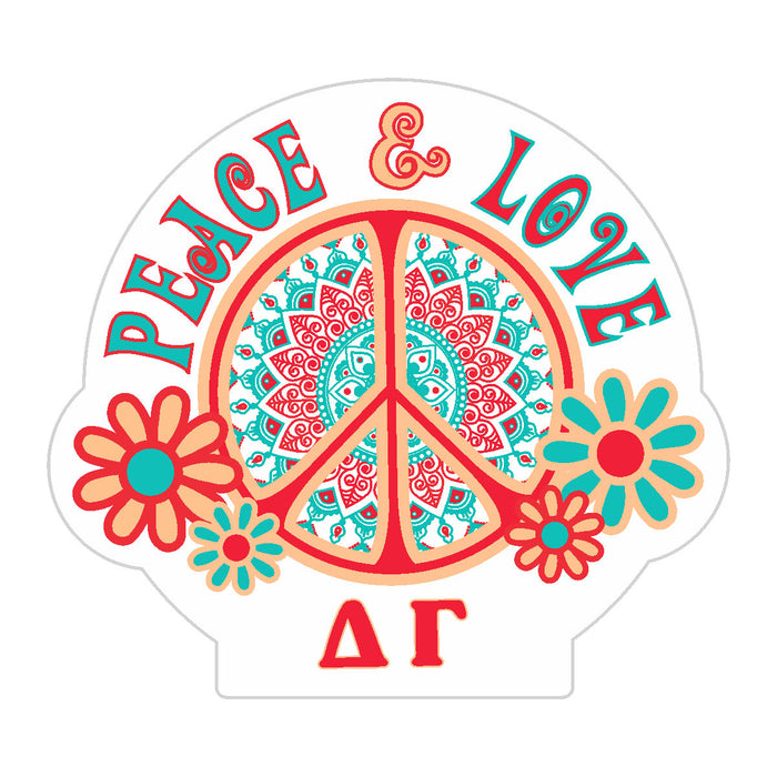 Delta Gamma Peace Sticker