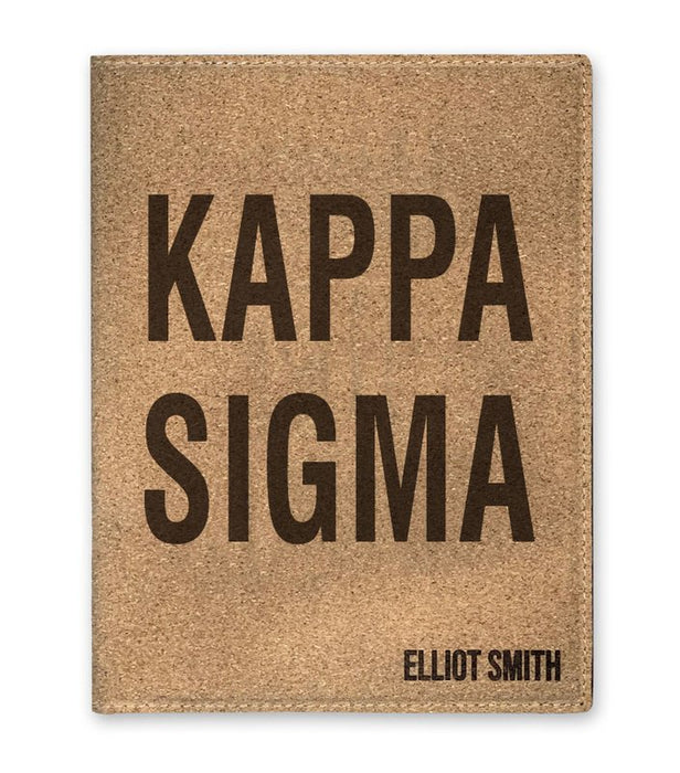 Kappa Sigma Cork Portfolio with Notepad