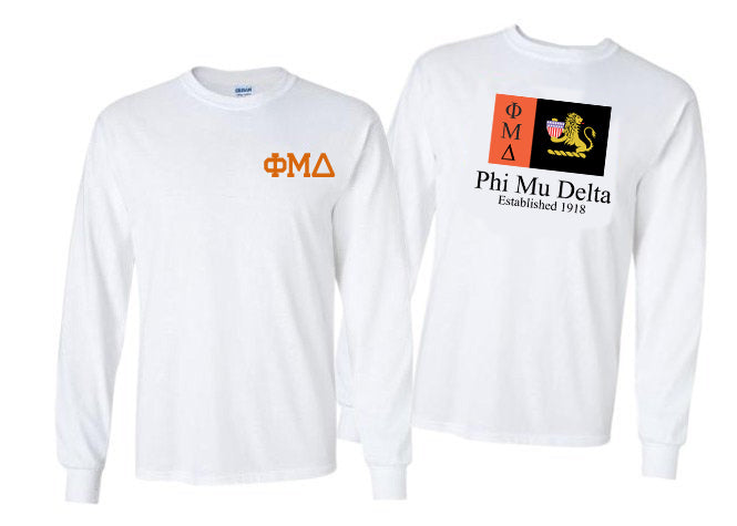 Phi Mu Delta Long Sleeve Flag Tee