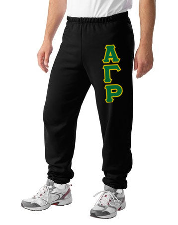 Alpha Gamma Rho Sweatpants with Sewn-On Letters