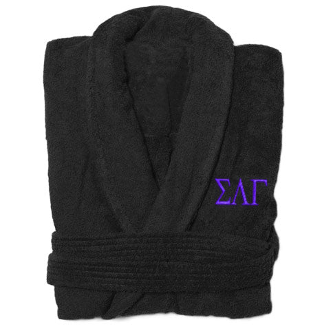 Sigma Lambda Gamma Greek Letter Bathrobe