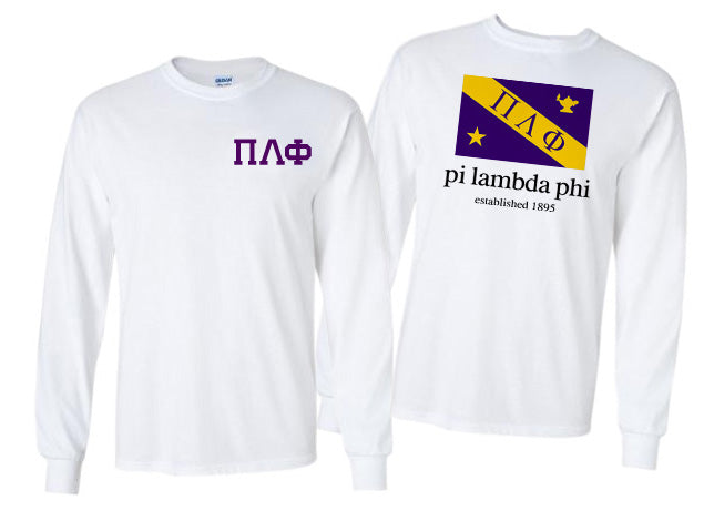 Pi Lambda Phi Long Sleeve Flag Tee