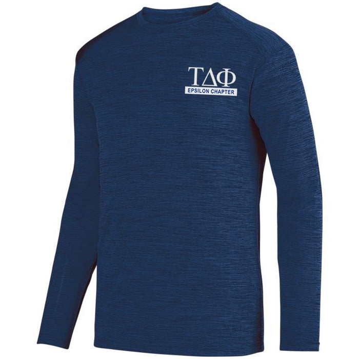 Tau Delta Phi $20 World Famous Dry Fit Tonal Long Sleeve Tee