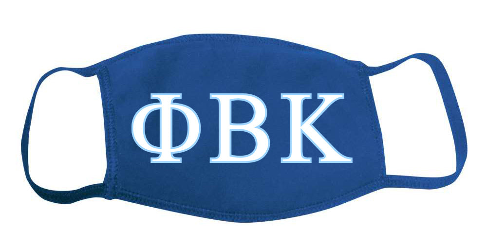 Phi Beta Kappa Face Mask With Big Greek Letters