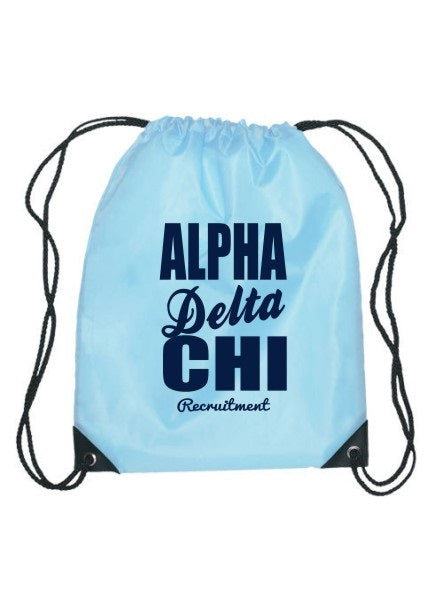 Alpha Delta Chi Cursive Impact Sports Bag