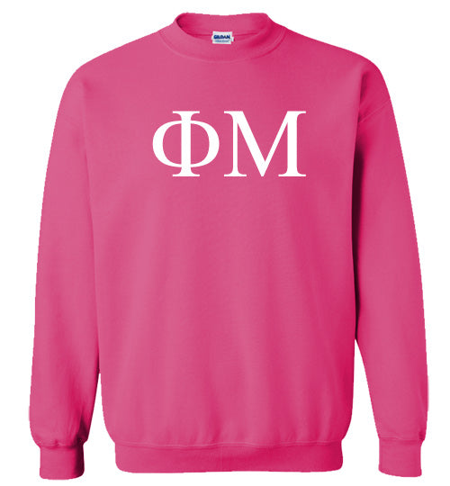 Phi Mu World Famous Lettered Crewneck Sweatshirt