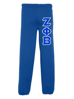 Zeta Phi Beta Sweatpants with Sewn-On Letters
