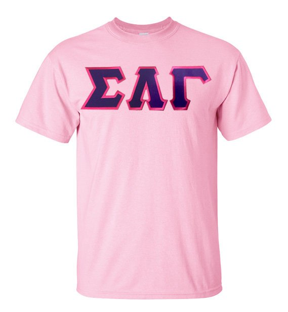 Sigma Lambda Gamma The Best Shirt with Sewn-On Letters