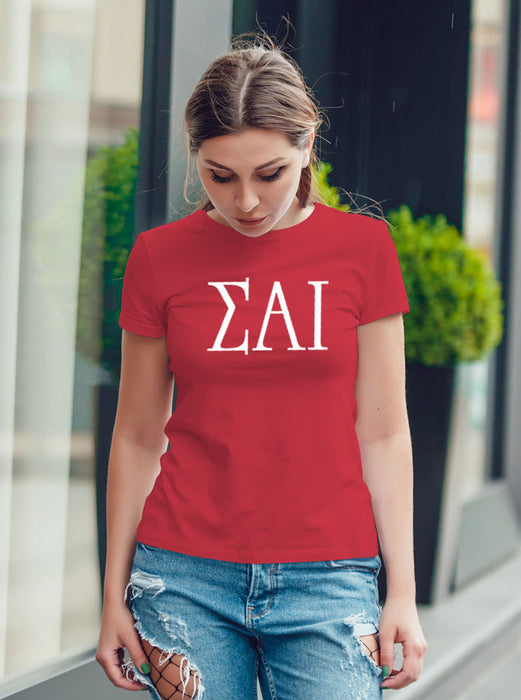 Sigma Alpha Iota University Letter T-Shirt