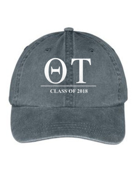 Theta Tau Embroidered Hat with Custom Text